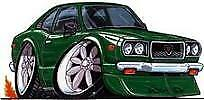 RX-3 Green Cartoon T-shirt wankel mazda rx3 sp rotary available in sizes S-3XL