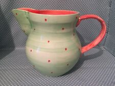 Over sized Holdenby Pottery Mad Hatters Tea Party jug by Suzanne Katkhuda.