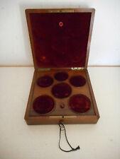 Médailler en palissandre et filets de laiton.XIX°.Monnaie,médaille,or,argent.