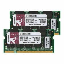 2GB (2X 1GB) 333Mhz Laptop DDR1 200Pin Para Kingston CL2.5 PC2700 (DDR-333) ARES