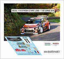 DECALS 1:18  CITROEN C3 WRC LOEB RALLY TOUR DE CORSE 2018
