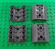 *NEW* Lego Dark Grey 4x4 Stud Raised Edges Chassis Spaceship Boat - 4 pieces
