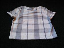 BNWT TU Funky vintage retro designer style blue white check top blouse. Sz 12