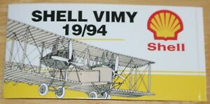 1994 Vickers Vimy First Atlantic Crossing 75th Anniversary Shell Sticker