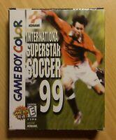 Konami International Superstar Soccer 99 GameBoy Color Game (No Manual) 2000 GUC