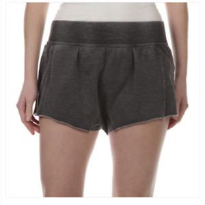 NWT Intimately Free People Cozy Lounge Shorts Medium Gray/Washed Black