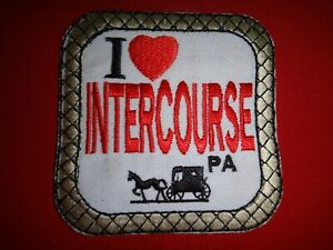 Novelty Patch I LOVE INTERCOURSE, Pennsylvania