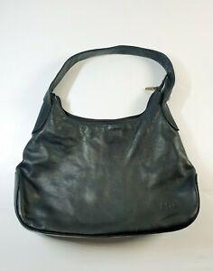 Mia Leather Handbag Black Butter Soft Leather Shoulder Bag Tote .