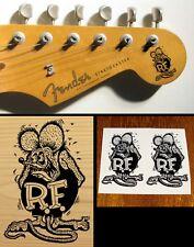 Rat Fink Strat Headstock Decal Waterslide Vintage Guitar Model Car Hot Rod