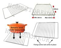 CHROME ADJUSTABLE OVEN SHELF EXTENDABLE COOKER GRILL TRIVET COOLING TRAY 0592