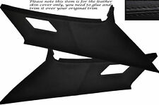 BLACK LEATHER 2X REAR C PILLAR LEATHER COVERS FITS BMW 3 SERIES E36 COUPE 91-98