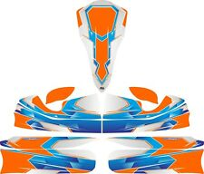 Aérographe Orange custom full Kart Sticker Kit-Karting-GO Kart-jakedesigns