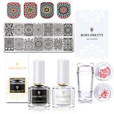 5pcs/Set BORN PRETTY Floral Nail Stamping Plates Polish Stamper Scraper Nail Art