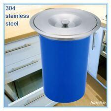 Concealed Benchtop Bench Top Bin Trash Waste Bin Container Rubbish Bin 304 Stain
