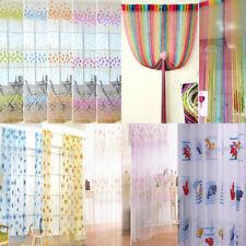 Voile Cafe Net Curtain Panel Window Curtain Tassel String Door Divider Decor NEW