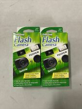 X2 Fujifilm Quicksnap Flash 400 One Time Use Disposable 35mm Camera 27Exp. 8-23