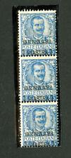 Benghazi Stamps # 1 Fresh OG NH Strip of 3 Rare Scott Value $480.00