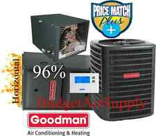 3 Ton Goodman 14 seer 95/96% 80K BTU Gas Furnace HORIZONTAL System GMSS960804CN