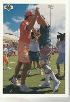 FREE SHIPPING-MINT-1991 Upper Deck #450 Dan Marino / Steve DeBerg Chiefs