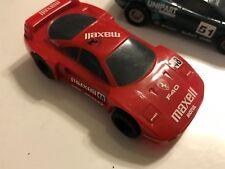 2 OLD HORNBY (SCALEXTRIC/ SLOT CAR) Jaguar Xj220 TVR RACING + FERRARI F40 MAXELL