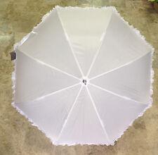 Ombrello da sposa MATRIMONIO bianco  wedding feste... lunghezza  90CM