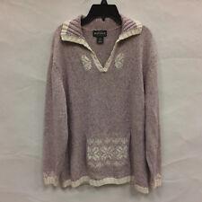 Woolrich Petites Women's Mauve Cotton Blend Sweater Front Pocket Size XL