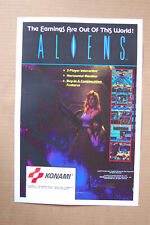 Aliens #1 Arcade Flyer Video Game promotional poster __