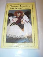 """tree topper angel PATTERN FABRIC DOLL SEWING CRAFTS CHRISTMAS 10"""" holiday decor"""