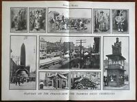 United States Corn Fair parades farmers prairie celebration 1901 great old print