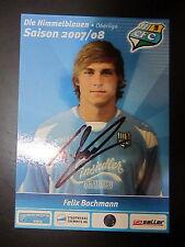 1340 Chemnitzer FC CFC Felix Bachmann 2007 - 2008 original signierte AK