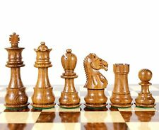 Golden Rose Wood Galaxy Staunton Wooden Chess Set Pieces King size 3""