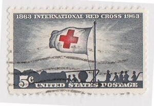 (USB182)1963 USA 5c Red Cross centenary ow1221