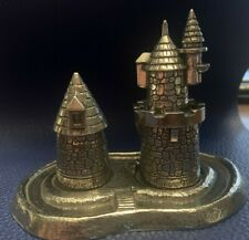 """New Salisbury Pewter """"First Tooth & First Curl"""" Castle Set & Tray Made in Usa"""