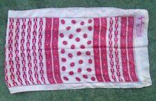 fine Anne Fogarty silk neck scarf rose pink flower bar print