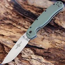 Couteau Ontario RAT1 D2 Lame Acier D2 Manche FRN OD Green Liner ON8867OD