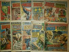 Eagle and Tiger UK Comic Magazine, Lot of 12 Used Condition 1985-1986 Newsprint