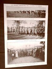 Manovre militari in Turchia nel 1910 Rivista di Seidler + Napoli Monumento al Re