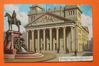 Litho AK Aachen 1905 Theater Kaiser Wilhelm Denkmal sign. Rob Kämmerer .. NRW 1