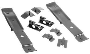 64-67 GM A-Body Floor Pan Bucket Rear Seat Mounting Brackets Anchors Guides Dii