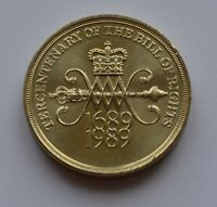 1989 The Bill of Rights Large Old Style £2 Two Pound Coin