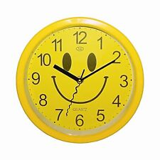 Gute Laune Uhr Wanduhr 12 Stundenanzeige Analog Batteriebetrieben Quarzlaufwerk