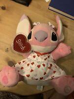 Disney Store Angel Plush Cuddly Soft Toy Official Stamp Lilo Stitch