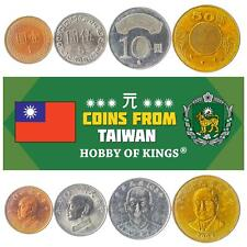SET OF 4 COINS FROM TAIWAN: 1, 5, 10, 50 DOLLARS. TAIWANESE CURRENCY 2001-2019