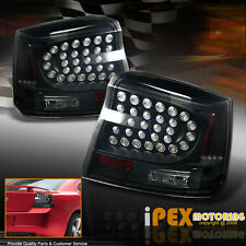 Dark Black-Smoke *ULTRA BRIGHT* 2006-2008 Dodge Charger LED Tail Light Lamp Pair