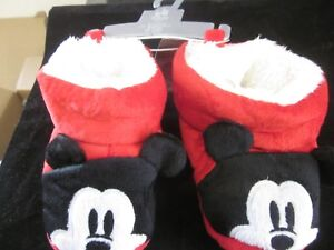 WDW Disney Store Disney Baby Mickey Mouse Slippers Size 18 - 24 Months Brand New