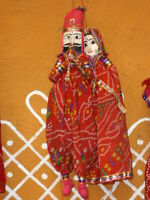 KKSM Rajasthani Puppet String Puppet; includes 1 male and 1 female puppet PINK
