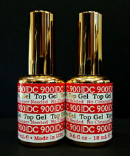 2pc DND DC Soak Off Gel Top Coat No Cleanser Needed 900 LED/UV .6oz 18ml Top Gel