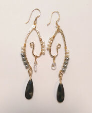Formal Gold plated  Black Cystal Earring