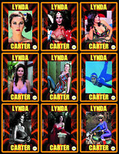 LYNDA CARTER 5 BOXES WITH COLLECTIBLE CARDS - ARGENTINA! - NIB! WONDER WOMAN!