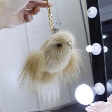 luxury real fox fur bird bag charm special cute birdie key chains special gifts